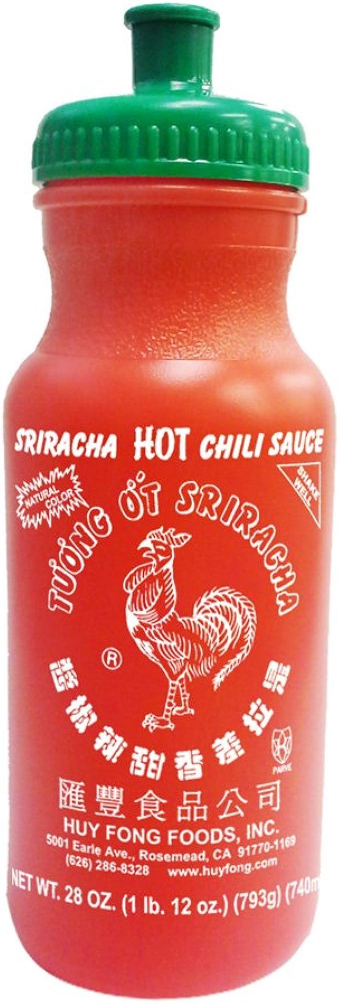 Sriracha Plastic Water Bottle Red