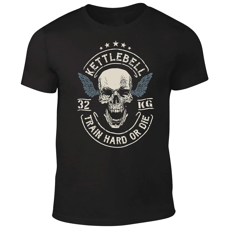 Camiseta de calavera con mancuernas para crossfit, levantamiento de pesas, bodybuilding, gimnasio: Amazon.es: Ropa y accesorios