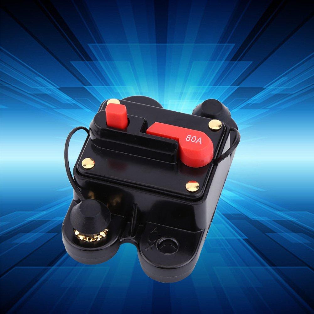 Akozon Leistungsschalter Reset Sicherung DC12V Leistungsschalter f/ür Auto Marine Boat Bike Stereo Audio Reset Sicherung 80-300A Auto Marine Boat Bike Stereo Audio Reset Sicherung 150A