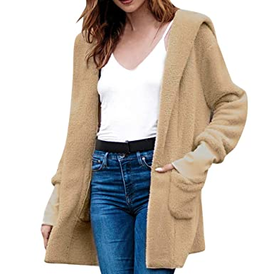 Herbst Winter Wollmantel Damen Frauen Jacke,Frauen Casual Jacke Winter Warm Parka  Outwear Winter Sweatshirts Overcoat Mäntel S-XL FRAUIT Reisen Maskerade ... 2e20f3044d