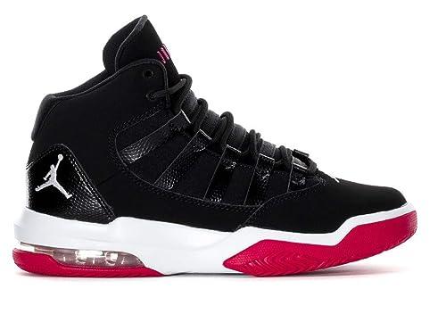 Amazon.com  Jordan Girls Max Aura Big Kids Shoes Black White-Rush ... 36faa7a73