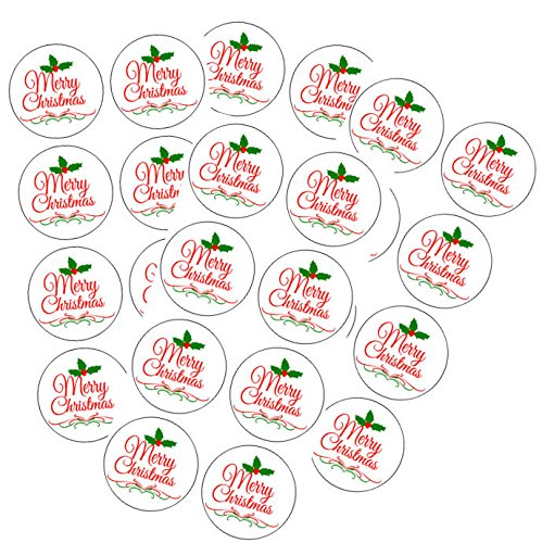 b- 72pack Holly Berry Red White Green Merry Christmas Envelope Stickers Seals / Stickers ()