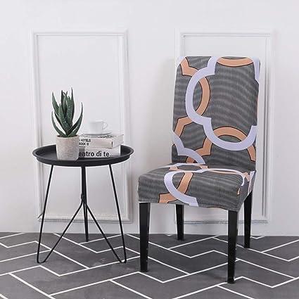 Enjoyable Amazon Com Shanyt Chair Cover Univera Geometric Retaurant Caraccident5 Cool Chair Designs And Ideas Caraccident5Info