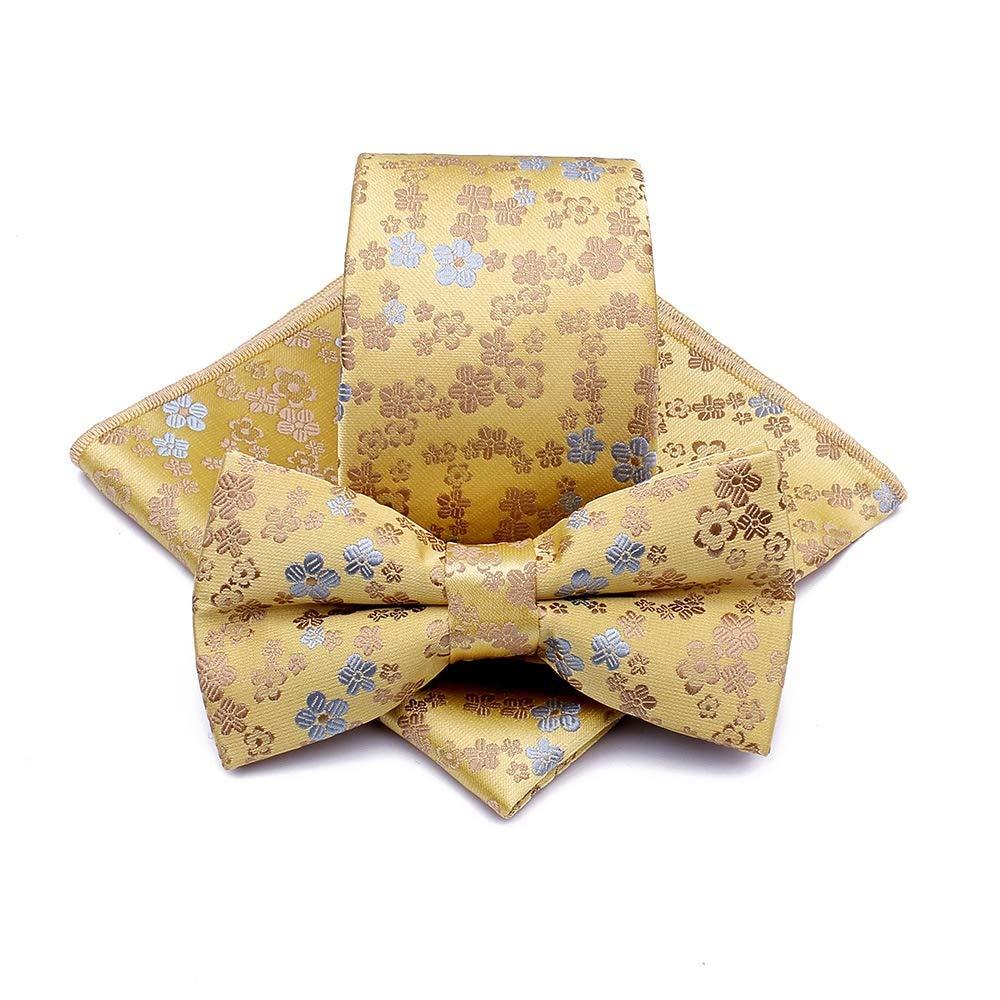 Yhjklm Corbata Jacquard Cashew Flower Floral Pajarita Tie Pocket ...