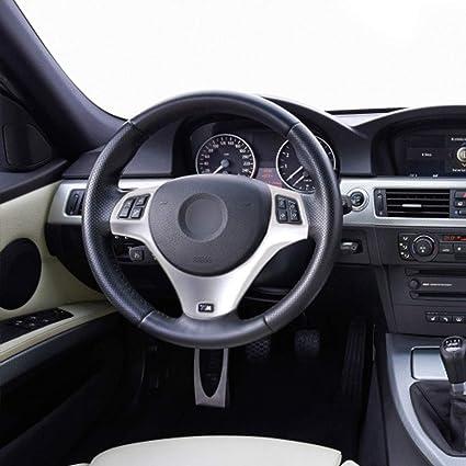 ABS volante paillettes telaio Trim per 1 serie 3 5 porte M Sport Coupe E82 E87 E90 E93 2005-2014