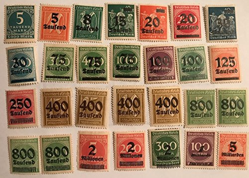 German Empire 313//330 with Extremely High Values - Germany Unmounted Mint Postage Stamps/Never Hinged 1923 Hyperinflation (Stamps for Collectors) ()