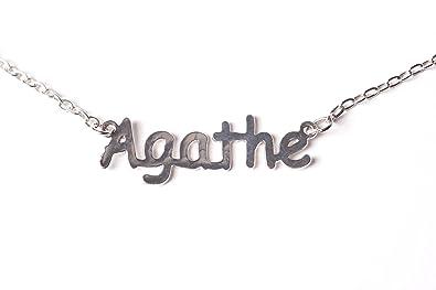 comment trouver soldes comparer les prix Collier prénom AGATHE: Amazon.fr: Bijoux