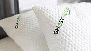 GhostBed Shredded Memory Foam Pillow with Gel Memory Foam (2- Pack) (King)