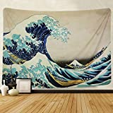 Tapestry Wall Tapestry Wall Hanging Tapestries The Great Wave off Kanagawa by Katsushika Hokusai Thirty-six Views of Mount Fuji Tapestry Wall Blanket Wall Decor Wall Art Home Decor 59 x 51 Inches