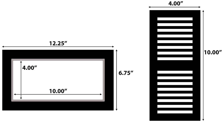 2-Pack Ekena Millwork COR11X05X13AN-CASE-2 11 1//8 inch W x 5 1//2 inch D x 13 3//8 inch H Angel Corbel ,
