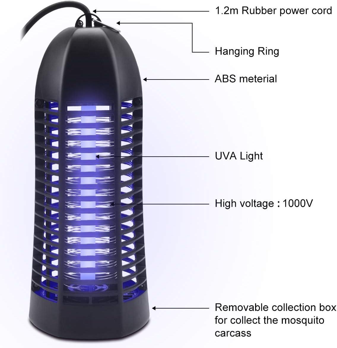 gemer Lampe Anti Moustique UV Moustique Tueur Lampe 6W LED R/épulsif Anti-Moustique Destructeur d Insectes Moustiques Pi/ège /à Insectes Attirer dinhalateur de Moustique Anti Mouches,Non Toxique