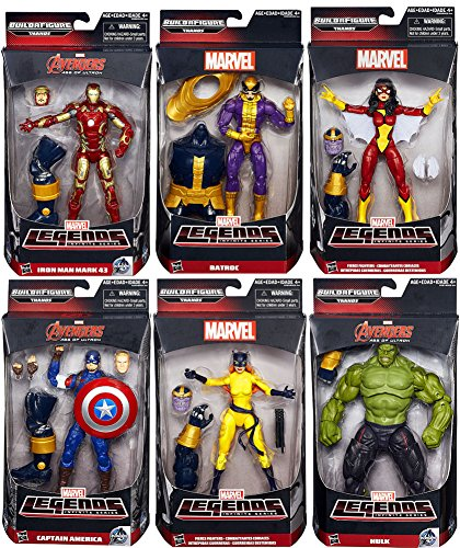 531b9010597 Image Unavailable. Image not available for. Color  Marvel Avengers Marvel  Legends Infinite Series Thanos 6 quot  Action Figure Set