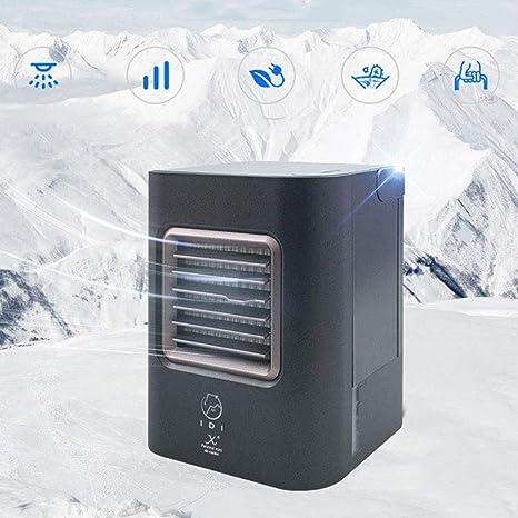 Opinión sobre Fbestfan Aire Acondicionado Portátil Enfriador Mini 3 en 1 Espacio Personal Enfriador de Aire Humidificador Purificador Ventilador Escritorio con 3 Velocidades, NZC04