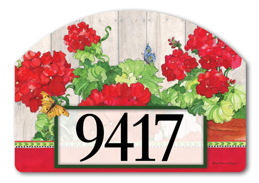 Yard DeSigns Studio M Ladies in Red Spring Summer Floral Decorative Address Marker Yard Sign Magnet, Made in USA, Superior Weather Durability, 14 x 10 Inches
