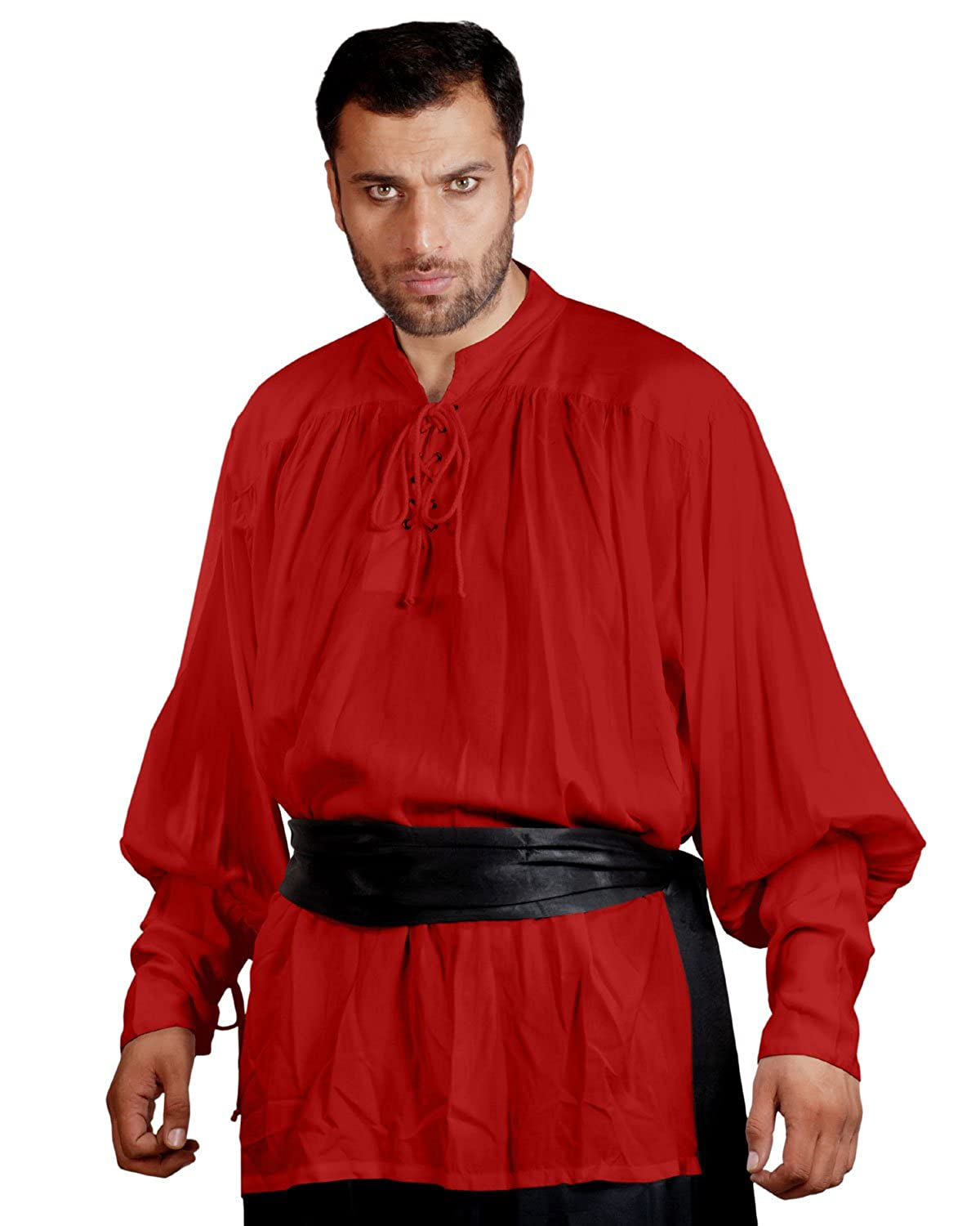 ThePirateDressing Medieval Poet's Pirate John Coxon Cosplay Costume Shirt C1004 C1004-Parent