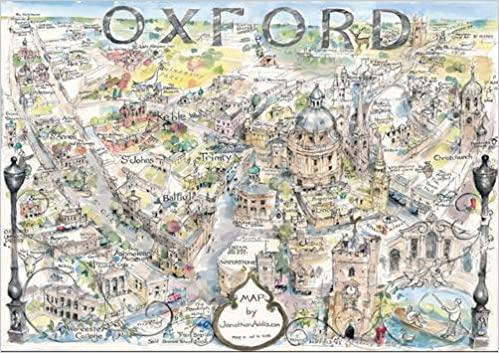 Buy Map of Oxford: Hand-drawn in Ink and Watercolour (Jonathan Addis Buy Maps on