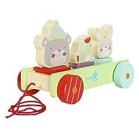 Pull Labebe in legno lungo giocattolo per bambino e bambino - Animali