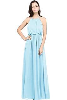 Babyonlinedress Halter Casual Maxi Dress Women s Chiffon Formal Evening  Dress e27b00d22020