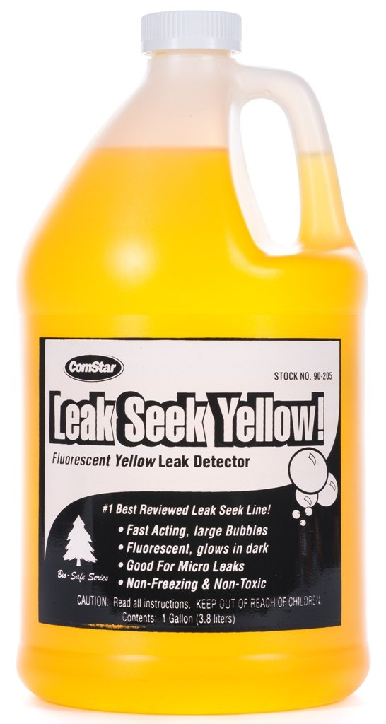 ComStar 90-205 Leak Seek Gas Leak Detector, 1 gal Container, Fluorescent Yellow