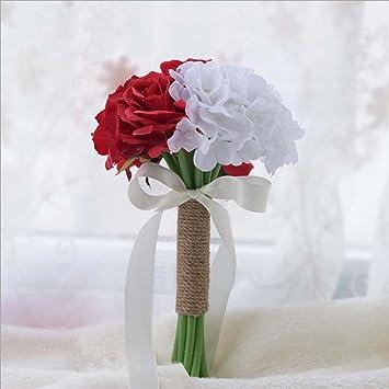 GJX Künstliche Blumen Seidenblumen Brautjungfer Hochzeit Brautstrauß ...