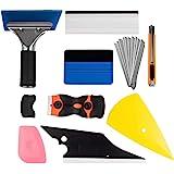 zhuohua Window Tint Application Tools 1 Set, 9 PCS Window Tint Tools for Vehicle Film Including Window Squeegee, Scraper…