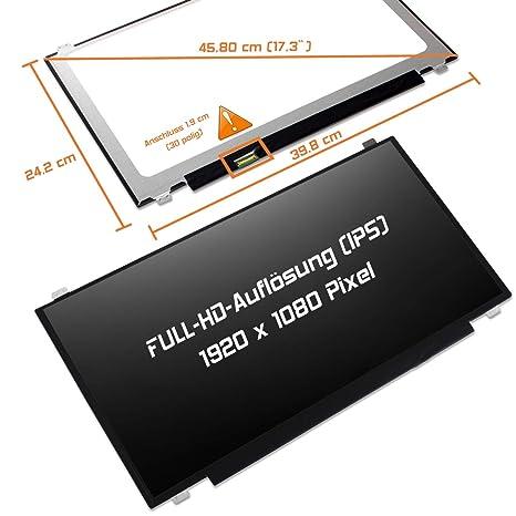 Laptiptop 17,3 LED Display Screen matt Ersatz f/ür HP Envy 17-R187nz 1920x1080 FHD Bildschirm Panel