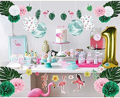 Amazon.com: Pancarta de flamencos para decoración de ...