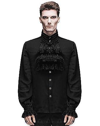 Devil Fashion Men Shirt Gothic Steampunk Victorian Regency Aristocrat Cosplay