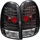 Anzo USA 311077 Dodge/Plymouth Black LED Tail Light Assembly - (Sold in Pairs)