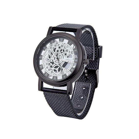 Reloj Hombre Pulsera Hombres De Lujo De Acero Inoxidable De Cuarzo Militar Deporte Plástico Banda De Plástico Reloj De Pulsera Absolute: Amazon.es: Ropa y ...