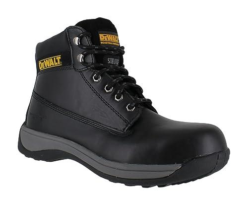 f212c315dd5 DeWALT APPRENTICE STEEL TOE SAFETY BOOT Black: Amazon.co.uk: Shoes ...