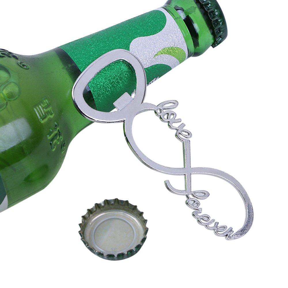 Silver Love Forever Wine Bottle Opener for Wedding Party Favor Bridal Shower by dngcity (Image #3)