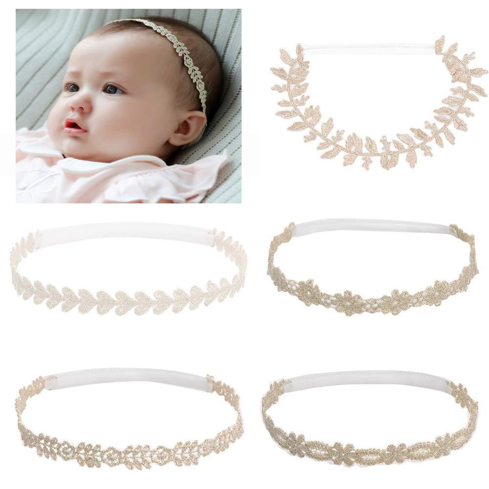 63784ecba9ed Amazon.com  Rabbit Ears Cloth Bow-Stretch Headbands for Baby Toddler Girls  Birthday