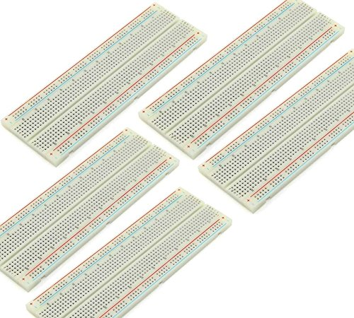 5pcs 830-Points Solderless Breadboard with Adhesive Tape PCB Board Kit for Proto Shield Circboard Prototyping Proto Matrix Board