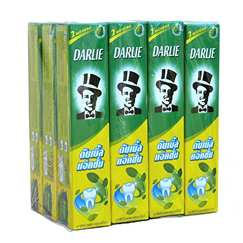 Darlie Double Action Toothpaste with Fluoride 35 gram Travel Size Pack of 12