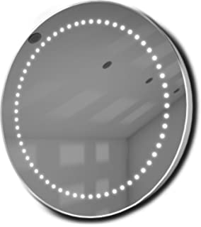 Illuminated Mirrors Mirage Ultra Slim LED Bathroom Mirror With Demister Pad And Sensor Silver