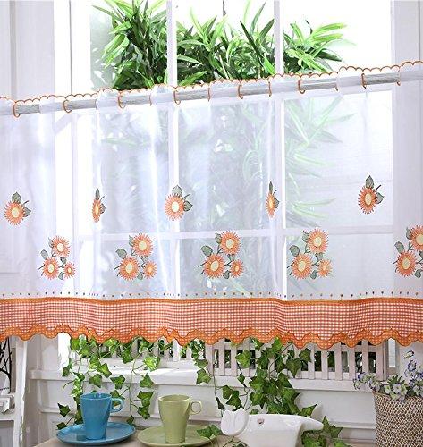 Voile Cafe tendine pannelli/ /arancione girasole/ /Cucina tende /D10/ /30,5/cm/