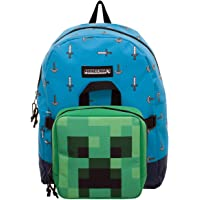 BIOWORLD MERCHANDISING Lunch Box Minecraft Sac à Dos Enfants, 40 cm, Bleu