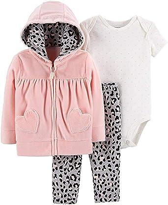 12 Months, Pink Carters Baby Girls Fleece Zip-Up Hoodie
