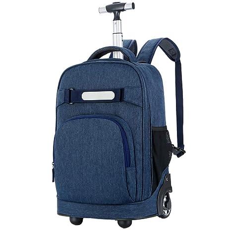 8b8217d130c9 Amazon.com : IF.HLMF Rolling Backpacks Kids Wheels Bag Kids School ...
