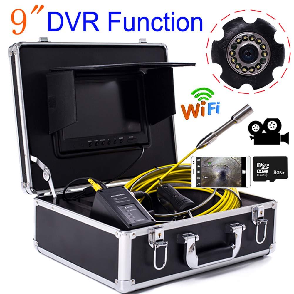 祝開店!大放出セール開催中 9インチの WIFI 23mm 防水排水検出 産業パイプライン下水道検出カメラ IP68 TVL 防水排水検出 WIFI 1000 TVL カメラ DVR ビデオ (20M、30M、40M、50M),40M B07Q4C1QMQ 20M 20M, ウルギムラ:e183ea85 --- arianechie.dominiotemporario.com