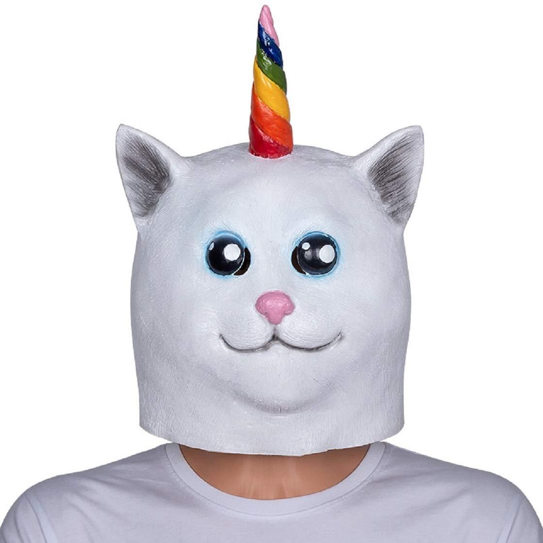 Nicky Bigs Novelties Unicorn Cat Mask,One Size