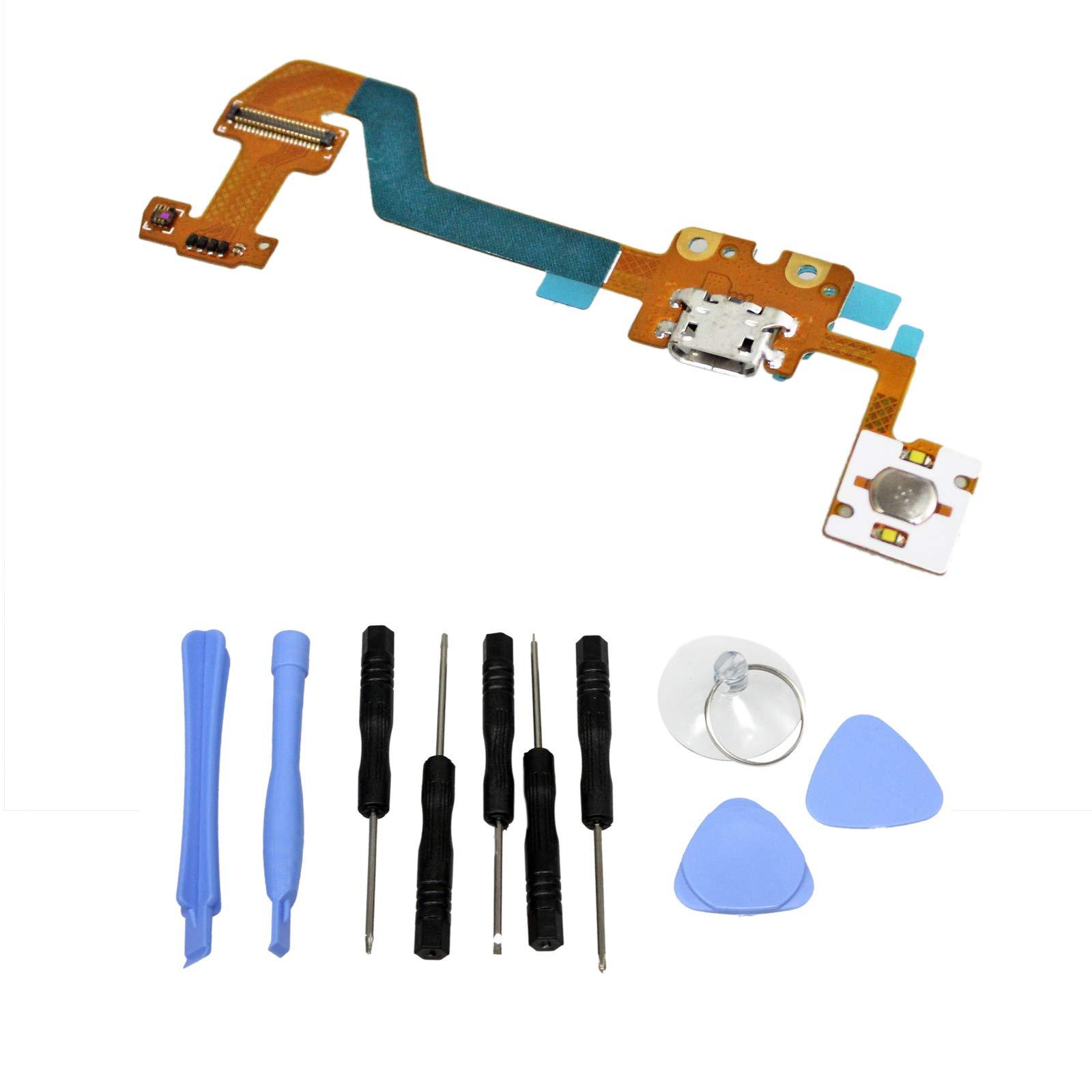 GinTai USB Charger Charging Port Flex Cable Replacement for Lenovo Yoga Tablet 2 1371F + Tools