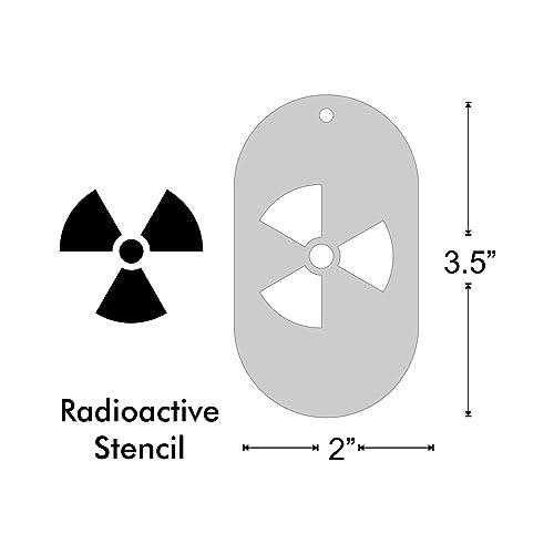 Amazon Stencil Radioactive Symbol Medium Handmade