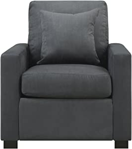 Urban Home Furniture Sophia Chair w/ Pillow Grey