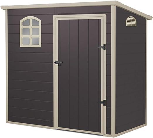 Gardiun KSP38105 - Caseta de Resina Flat Roof 2, 12 m2: Amazon.es: Jardín