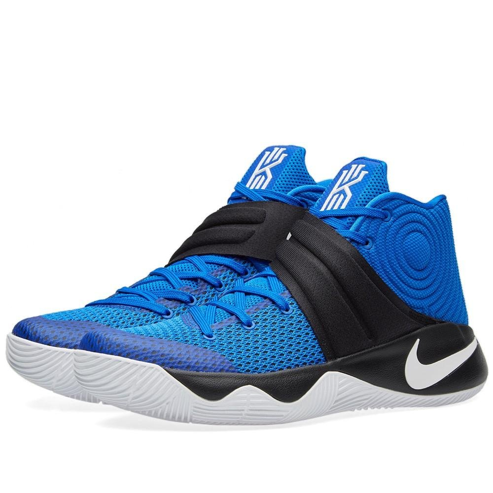 hot sale online 32a77 0a25f NIKE Mens Kyrie 2 Hyper Cobalt Blue/White-Black Fabric