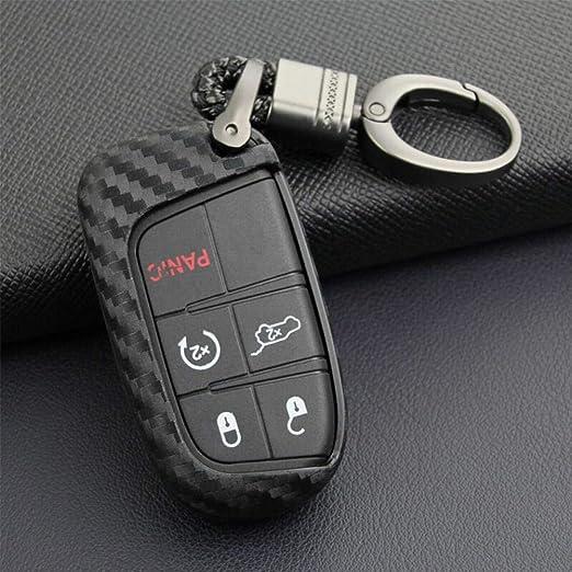 per Lunetta Jeep Dodge Chrysler in Fibra di Carbonio starter Accessorio per Portachiavi