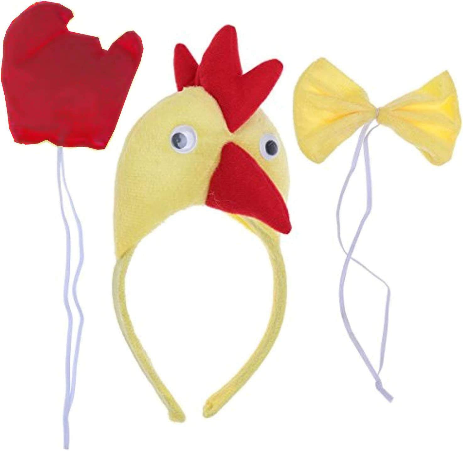 Lovelegis Gallo - Diadema de lotos - Cola - Pajarita - Animales ...