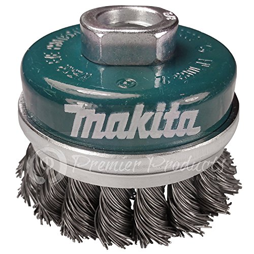 Makita 1 Piece - 2.5 Inch Banded Knotted Wire Cup Brush For Grinders - Ultra-Duty Conditioning For Metal - 2.5